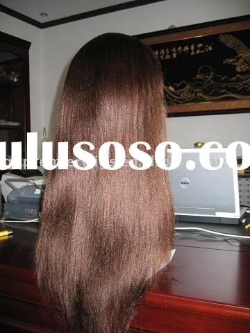 African American Straight human hair full lace wig