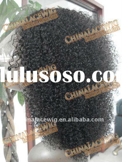 Afro curl full lace wigs for african americans