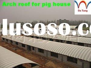 Arch roof steel structure pig house, K-Span building project, aseismic building