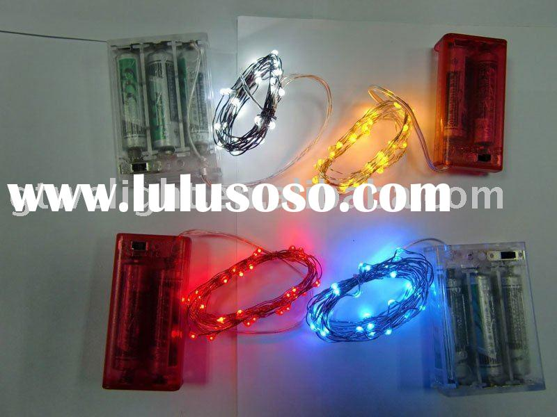 Battery operated LED copper string lights