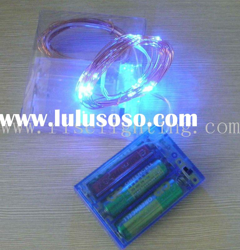 Battery operated LED fairy string lights for event lighting