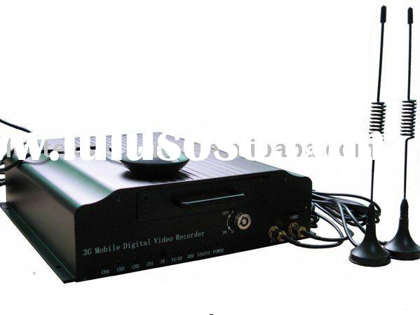 Best selling 3G mobile DVR 4ch CAR DVR 3G with GPS realtime wireless monitor on PC