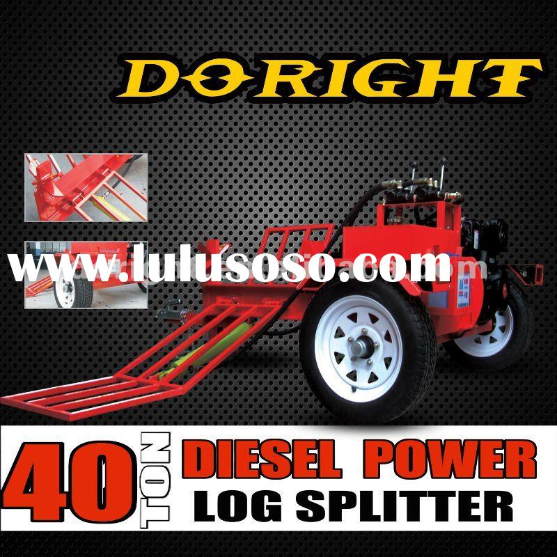 CE,EPA approved 40 tons Diesel log splitter with log lift