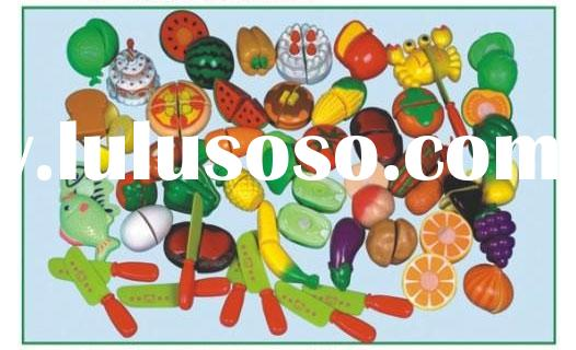Children's plastic fruits and vegetables assembling model toys