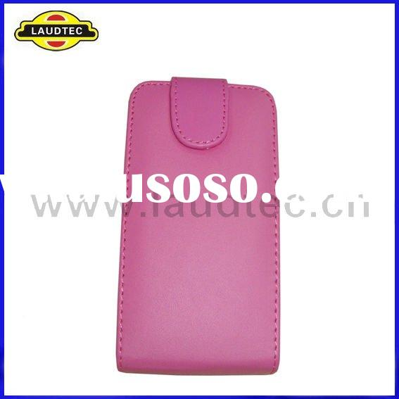 Colorful leather flip pouch case back cover for LG OPTIMUS 2X P990