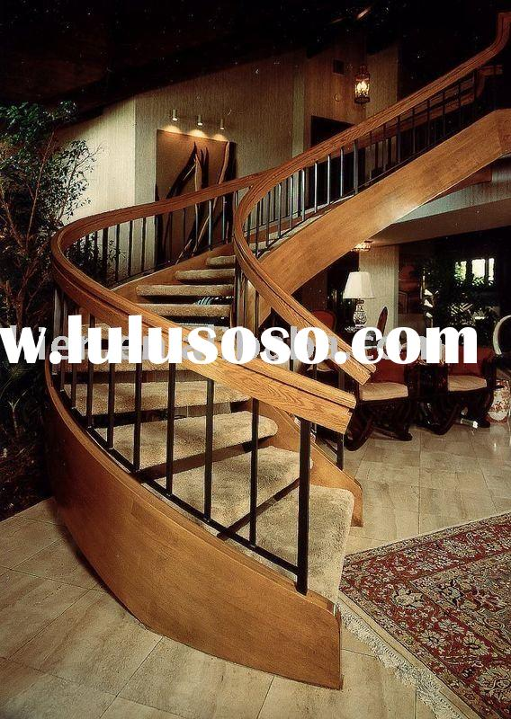 Costume Gamia Oak Wooden Stairs,Spiral Wood Stairs