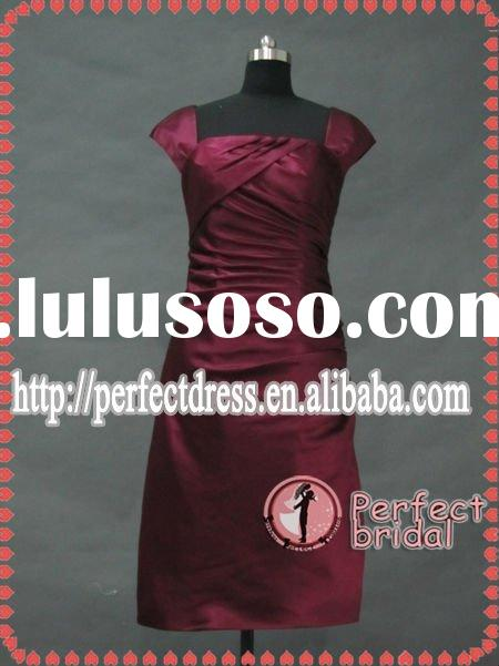 Dark red short evening dress 2011