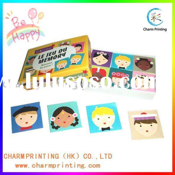 Educational game card memory card for teaching children