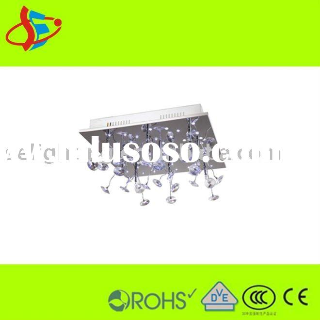 European LED/G4 modern crystal ceiling lamp (China manufacturer)