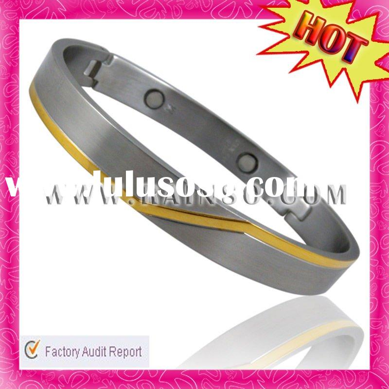 Fashion Stainless Steel Magnetic Men's Bangle Bracelet