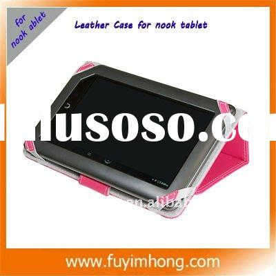 For Nook tablet leather case with high quality