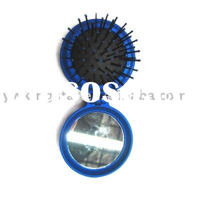 Hair comb, Fold mirror, Fold hairbrush with mirror, Mirror brush,Travel comb, Foldable comb,