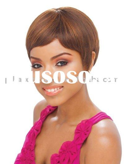 Ladies' fashion remy human hair boy-cut wigs