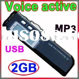MINI DVR MP3 2GB DIGITAL VOICE RECORDER