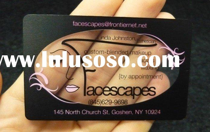 Makeup Artist Clear Plastic Business Card