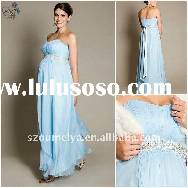 Maternity Beaded Celebrity Evening Gown