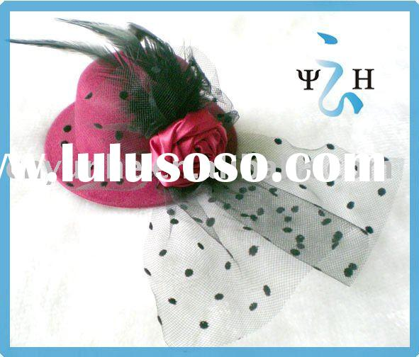 Mini Top Hat Hair Accessories Clip,flower mini hair clip