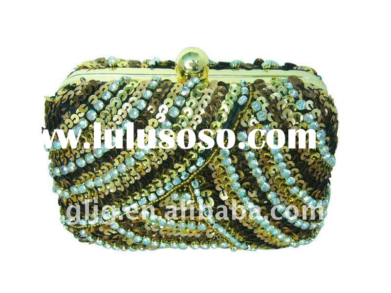 New style beaded evening clutch bag