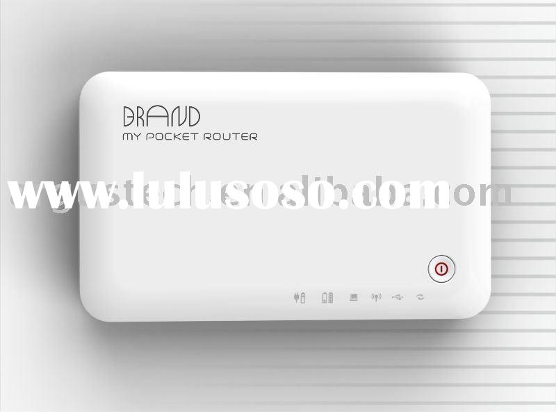 Pocket 3g WiFi Router with built in Li-ion and 3g modem