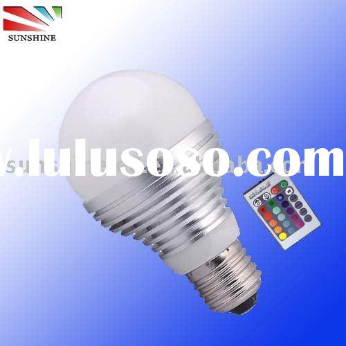 RGB LED Bulb with IR remote