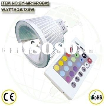 RGB led lamp(MR16-5W)