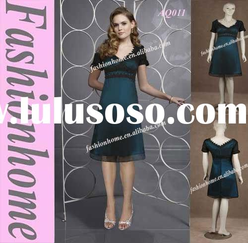 Short Sleeve Fashion Evening Dress AQ011
