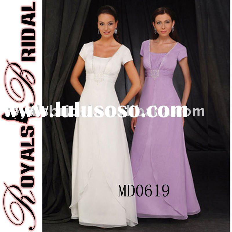 Short Sleeve Plus Size Wedding Mother Dress
