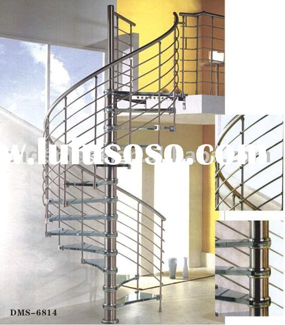 Steel Glass Spiral Staircase