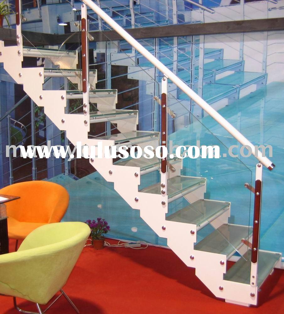 Straight Tempered Glass Stairs