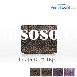 TS-CASE tablet PC leather case for Apple iPad, for iPad leopard grain case, tablet Pc accessories