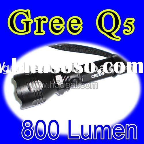 Tactical 800 Lumen Q5 CREE LED Light Outdoor Flashlight Torch