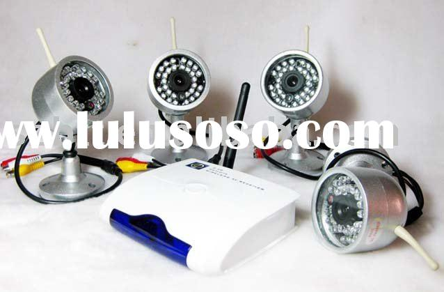 WIRELESS CCTV 4 IR Camera VIDEO USB DVR Security System