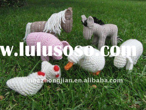 Waldorf Toys Knitted Farm Animals Farmyard Merino Yarn