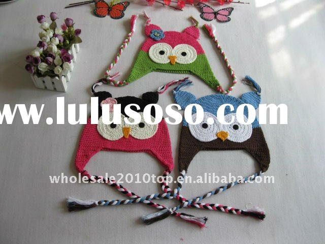 Wholesale or Retail crochet handmade knitted animal hats,6colors choose freely