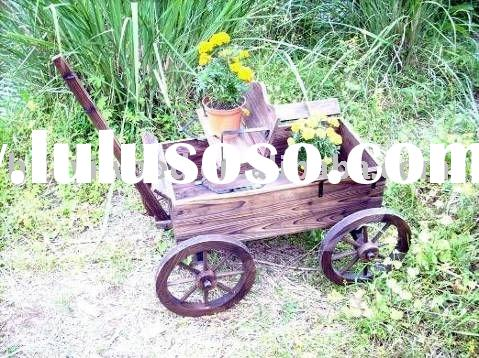 Wooden Wagons, Wood Garden Planters, Wheelbarrow Planters