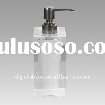 acrylic liquid soap dispenser/lotion bottle