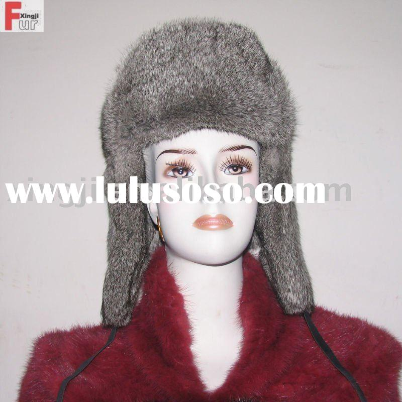 chinchilla rabbit fur hat