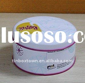 color round food tin box