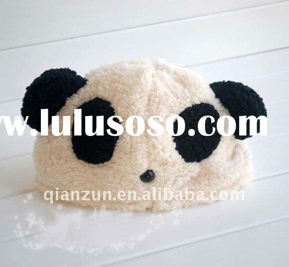 cute children animal hat in panda shape