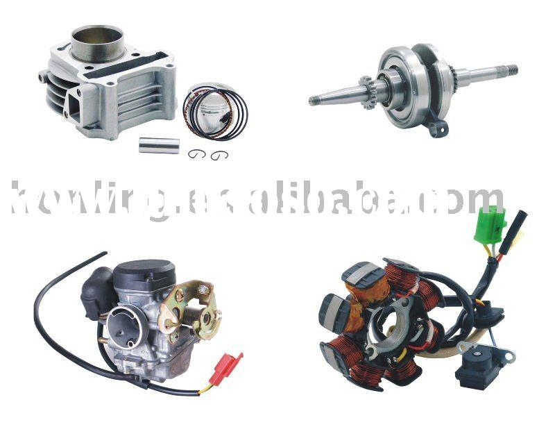 engine parts for scooter, 50cc 2-stroke, 4-stroke, 125cc 4 stroke, GY6.CPI,JOG,Keeway, Stels