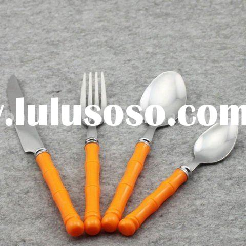 flatware set brass bamboo stainless steel BS1101
