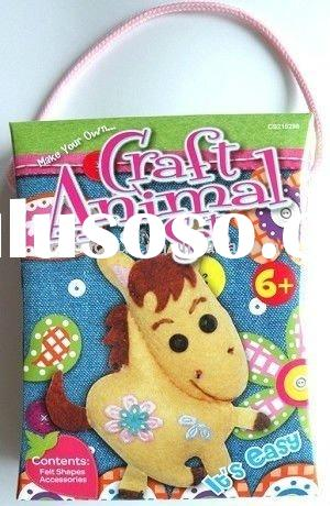 hobby craft kit/sewing craft kit/felt hobby craft/DIY animal craft kit/kids craft kit