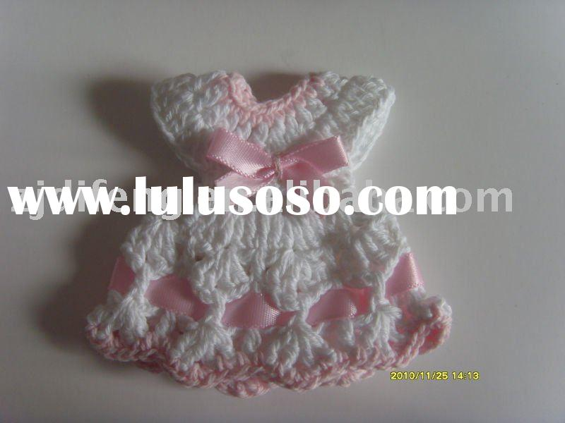 mini crochet dress knitted baby shower favor wedding favor