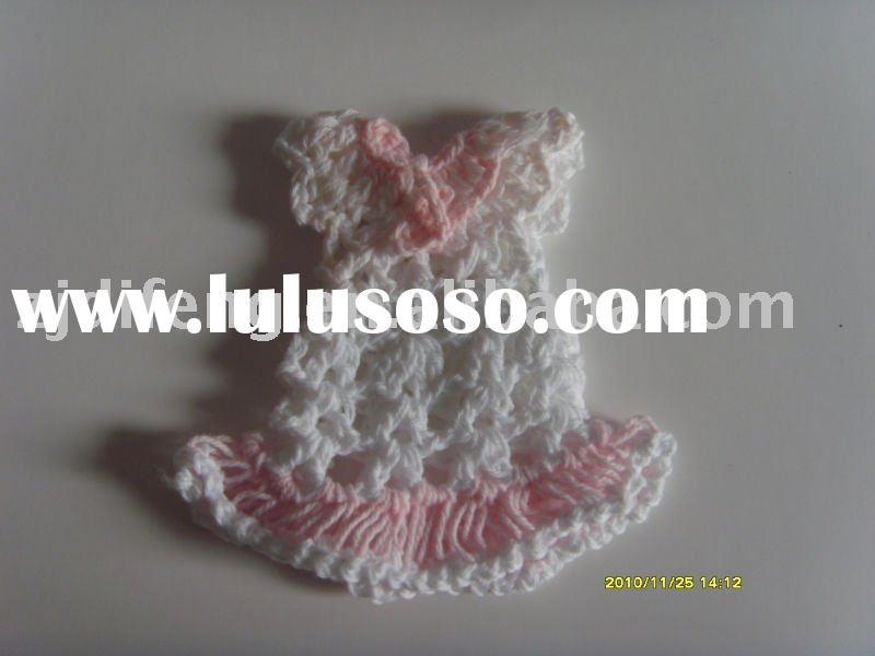 mini crochet dress/wedding and baby shower favors baby shower decorations