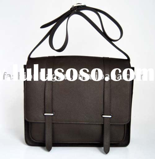 2011 brown men leather bags satchel