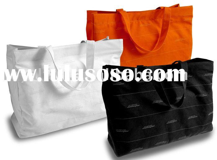 2012 Multi cotton canvas tote bag with printing allover the bag