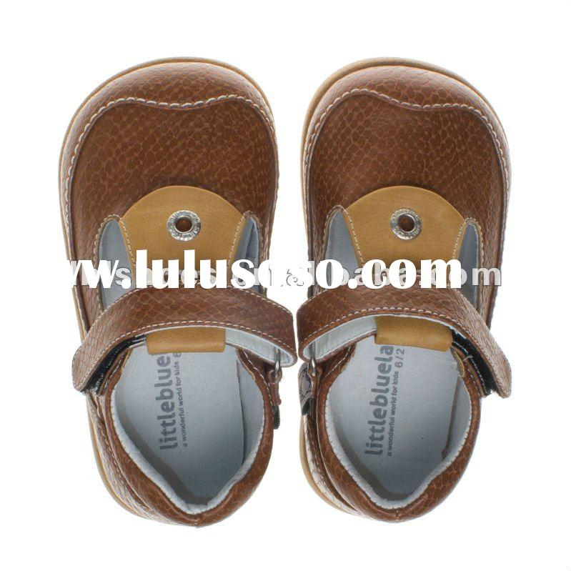 2012 spring boys' leather infant toddler children shoes brown UI-A61011-BR