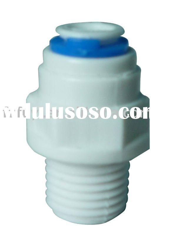 "FY012C (1/4""tube ODX1/2""thread) quick connect water fittings for RO system"
