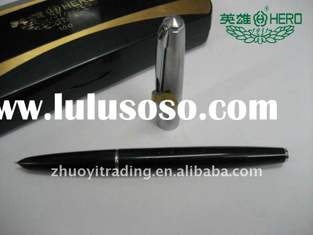Guaranteed 100% Genuine HERO , 14k gold pen , (The new box packaging),Have security check code