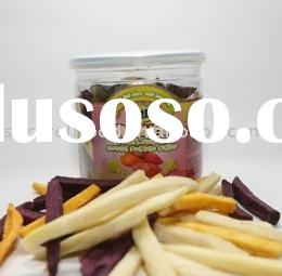 Low Temperature Vacuum Fried Mixed Sweet Potato Chips (Healthy Snack)